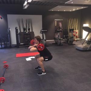Front squat motorcrosser Filip Bengtsson